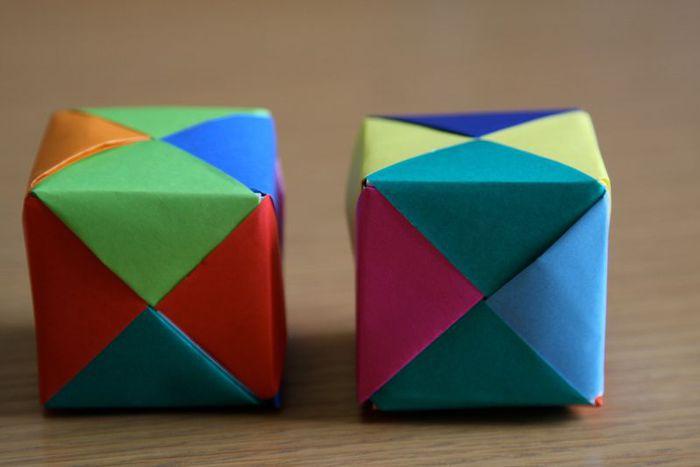 Как сделать куб из бумаги фото