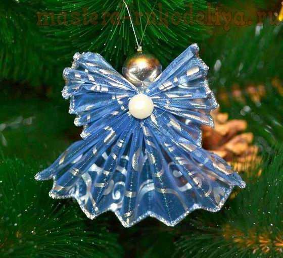 Ангелочек на елку мастер класс