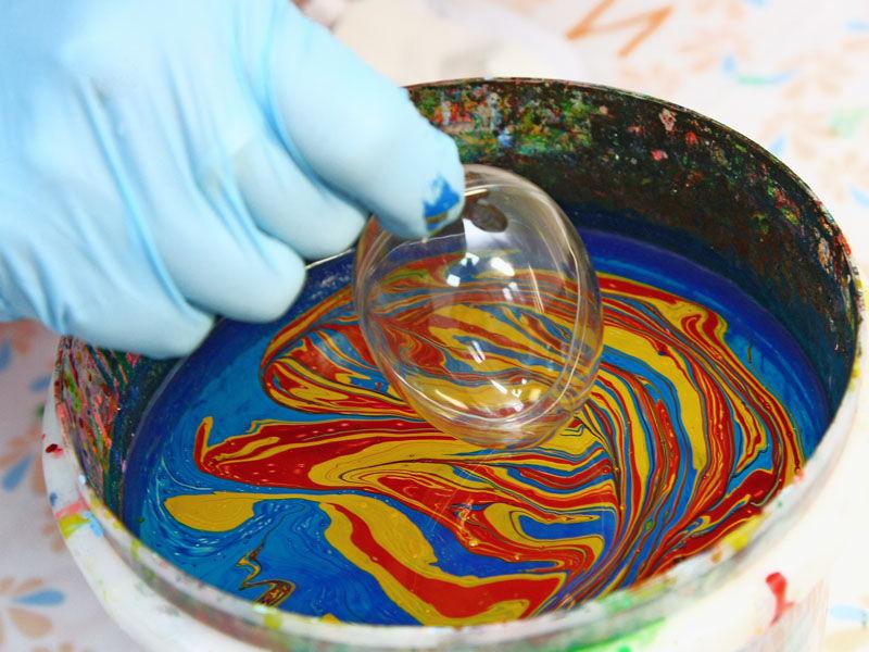 Мраморирование акриловыми красками мастер-класс